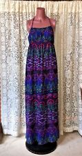 Exhilaration Junior Maxi Bold Print Long Dress EUC sz S