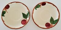 Franciscan Interpace Apple Saucers Set of Two (2) Made in USA