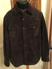 LEVIS XL BROWN SUEDE LEATHER TRUCKER JACKET