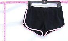 "American Apparel Black Striped Running Shorts Sz L (0-5.5"") #6025 B-214"