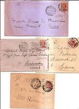 STORIA POSTALE REGNO - Michetti - 60 c. giallo bruno (205) -  4 lettere - 19 L.