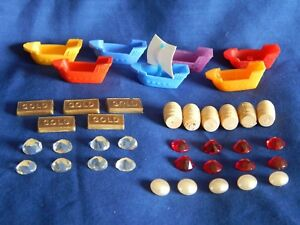 BUCCANEER GAME SPARES REPLACEMENT PLAYING PIECES - Please Choose:-