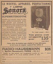 Z8337 SONORA Radio 7 lampes - Pubblicità d'epoca - 1933 Old advertising