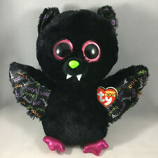 "TY Halloween Beanie Boos 9"" Medium DART the Bat Animal Plush MWMT's Heart Tags"