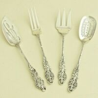 ART NOUEAU Antique French Sterling Silver Dessert Server Set by A.M. Tallois 4pc