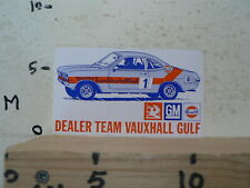 STICKER,DECAL DEALER TEAM VAUXHALL GULF GM NO 1 A