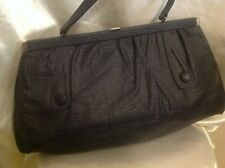 sac à main femme ancien modèle rare en grande taille cuir noir
