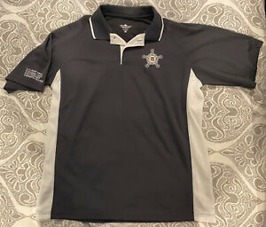 US Secret Service Mens XL Polo Shirt (Charcoal Gray/White) Brand New *VERY RARE*