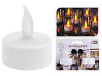 2x Flackernde LED Teelicht Kerzen Set elektrische Teelichter Kerze mit Batterien