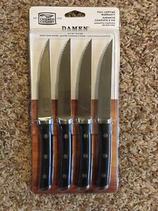 New in Package*Chicago Cutlery DAMEN 4pc. Steak Knife Set*Black Handle*Forged