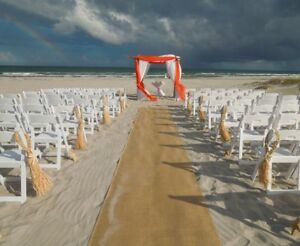 "Burlap Aisle Runner 35ft × 40"" 100% Natural Jute Wedding Rustic Vintage Fabric"