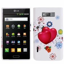 COVER SILICONE GEL MORBIDO per LG OPTIMUS P700 L7 CUSTODIA CASE TPU CUORE AMORE