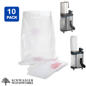 (10) Plastic Dust Collector Lower Bags for Delta 50-720 & 50-720CT, 50-721