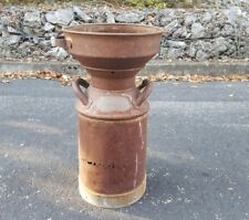 Vtg Antique Primitive Milk Can with Strainer. Beautiful Rusty Patina