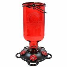 More Birds Elixir Hummingbird Feeder Vintage Glass Medicine Bottle 5 Ports 13 Oz