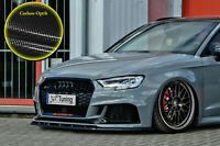 Spoilerschwert Frontspoiler ABS Audi RS3 8V Facelift Sportback ABE Carbon Optik