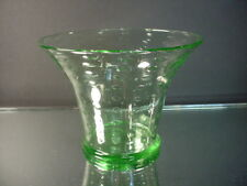 Scarce Whitefriars Glass Light Green Controlled Bubble Flared Vase 1925 J Powell