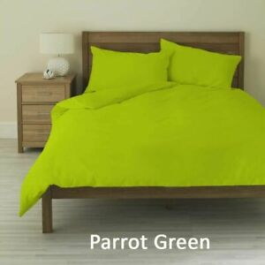 Parrot Green Solid Hotel 4 PC Sheet Set 1000 Thread Count Double Size