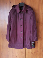 RRP £79 RALPH LAUREN COAT Jacket Mac Trench Burgundy Red SMALL / UK 8-10 PETITE