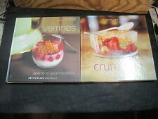 LOT DE 2 LIVRES DE CUISINE: Verrines et Crumbles/ Marabout