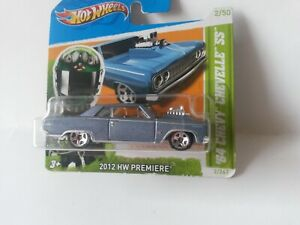 2012 Hot Wheels HW Premiere 64 Chevy Chevelle SS Diecast Metal Toy Car 1:64