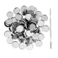 Empty Magnetic Eyeshadow Pigment Metal Palette DIY Pan Makeup 26mm Round Set