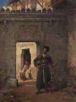 Painting Military Chlebowski Circassian Guard Canvas Art Print