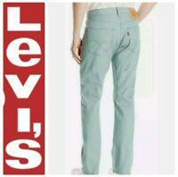 LEVI'S MEN'S 501 ORIGINAL FIT JEANS SKY BLUE GARMENT DYE SZ 32 x 30 BUTTON FLY