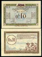 FRANCE 0.1 FRANC OCCUPIED GERMANY ND 1923 P R2 UNC