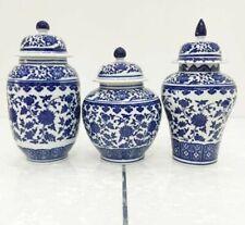 Ceramic Paint Vase Antique Blue White Porcelain Floral Vintage Home Decor Craft