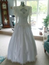 Vintage 80s 90s Wedding Dress Romantic Bridal Originals Gown