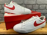 NIKE MENS TENNIS CLASSIC AC TRAINERS WHITE RED VARIOUS SIZES RRP £65 T