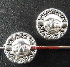 "150pcs Tibet Silver ""Sun"" Design Bead Spacers 8x4mm zn160"