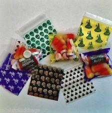 2020 Apple Trick or Treat Mix 100 Ziplock Bags Poly Plastic Halloween Designs