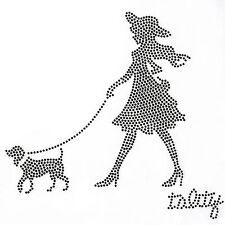 Rhinestone Transfer Hot fix Motif Fashion Design Jewellery Walks girl Decoration