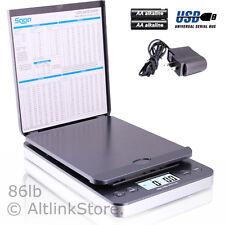 SAGA POSTAL SCALE 86LB X 0.1OZ DIGITAL SHIPPING SCALE WEIGHT POSTAGE W/AC IN USB