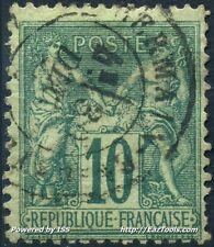 FRANCE SAGE N° 76 AVEC OBLITERATION COTE 300€