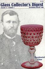 Glass Digest Dec/Jan '89 Cruets Nailsea Beads Egg Cups   Pittsburgh Tree of Life