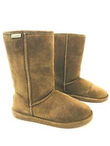 BEARPAW Emma 610W Womens 9M Winter Boots Wool/ Sheepskin Lining Suede Upper