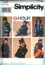 Simplicity 7363 Child 2 Hour hats scarf jacket booties sewing pattern UNCUT FF