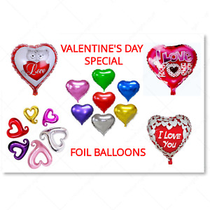 "Valentine 18"" inch Heart shape Foil balloon Helium celebration 14 feb decoration"