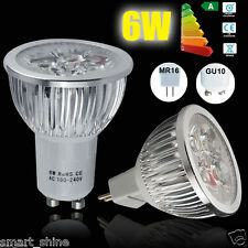 4x 10x 20x6W GU10 MR16 LED Spotlight Lamp Bulb Warm Cool White Light  High Power
