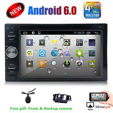 2017 New Android 6.0 Hd WiFi 2Din Car Head Unit Stereo Radio Dvd Player Gps +Cam