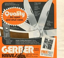 1974 small Print Ad of Gerber Folding Sportsman II Knife