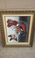 AMIL PEDRO NATIVE AMERICAN INDIAN ARTIST WARRIOR OIL PAINTING ART GILA RIVER AZ