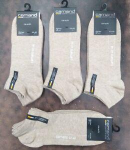 12 Paar Größe 43/46 Camano Sneaker Socken - druckfreie Füßlinge - Beige