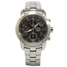 Seiko Criteria SND847 P1 Silver Black Dial Men's Chronograph Quartz Watch