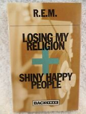 R.E.M Losing My Religion Shiny Happy People Back Trax 1993 Cassette Single NOS