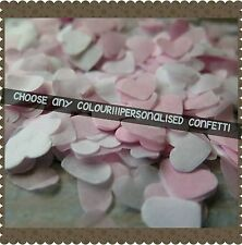 1400 PERSONALISED HEART PINK..ANY COLOURS WEDDING THROWING CONFETTI/ DECORATION