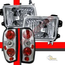 Chrome Headlights Lamps & Tail Lights For 98 99 00 Nissan Frontier